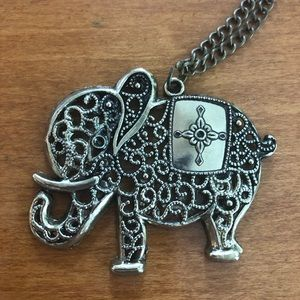 Beautiful statement elephant necklace!
